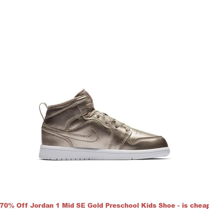 7f6f5b9a4268 70% Off Jordan 1 Mid SE Gold Preschool Kids Shoe – is cheap jordans 2017  legit ...