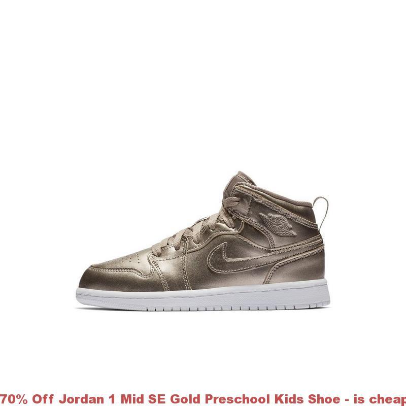 d294091424871 70% Off Jordan 1 Mid SE Gold Preschool Kids Shoe – is cheap jordans ...