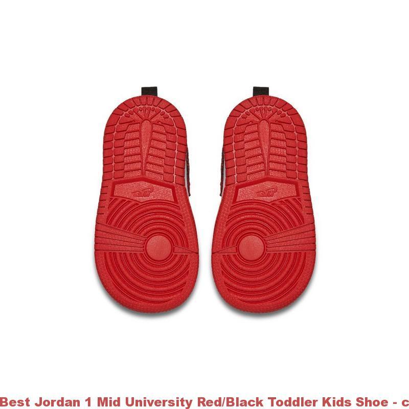 low priced a3ed0 75797 Best Jordan 1 Mid University Red Black Toddler Kids Shoe – cheap jordans 8.5  ...
