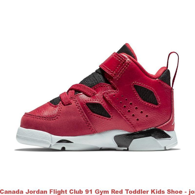 new style 80b40 48090 Canada Jordan Flight Club 91 Gym Red Toddler Kids Shoe ...