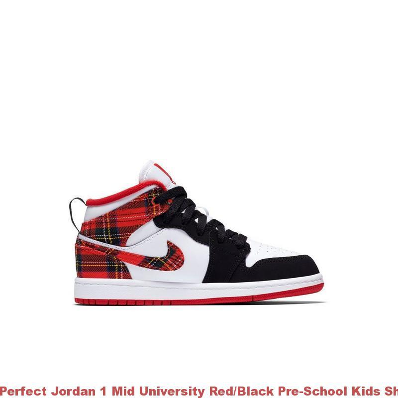6410f3e6124b9 Perfect Jordan 1 Mid University Red/Black Pre-School Kids Shoe – air max  shoes ...