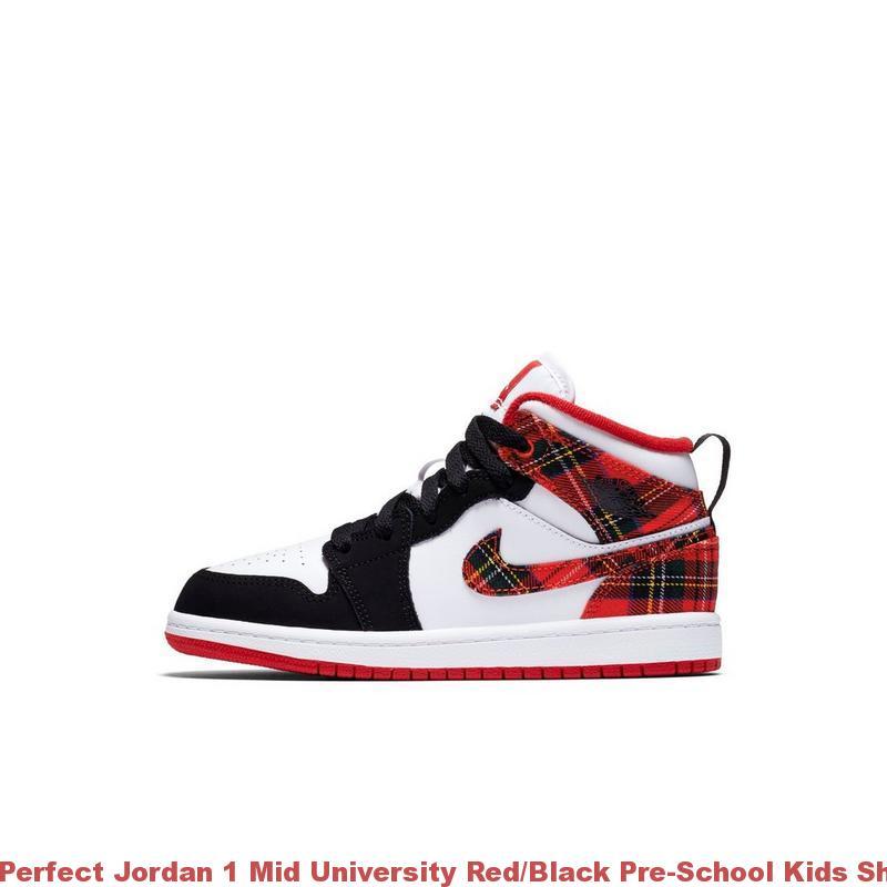 brand new 00d6c d56d0 Perfect Jordan 1 Mid University Red/Black Pre-School Kids Shoe - air max  shoes china - R0379