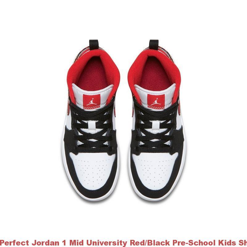 Shoe Jordan Shoes University Perfect Air Max School R0379 Pre China 1 Mid Redblack Kids GMSpUzVq